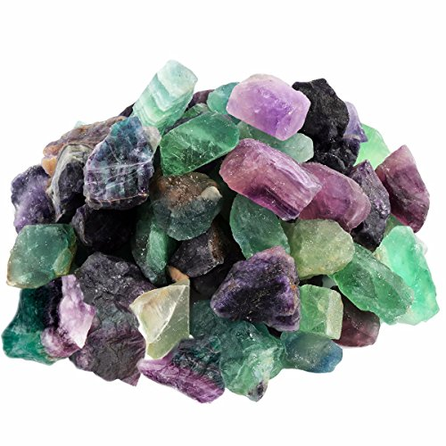 rockcloud 1 lb Natural Crystals Raw Rough Stones Cabbing,Tumbling,Cutting,Lapidary,Polishing,Reiki Crytsal Healing,Fluorite