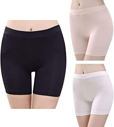 Joyshaper Under Skirt Shorts Women Knickers Briefs Panties Anti Chafing Safety Slipshorts Boyshorts Under Dresses Pants Leggings Tights Seamless Underwear 2 in 1