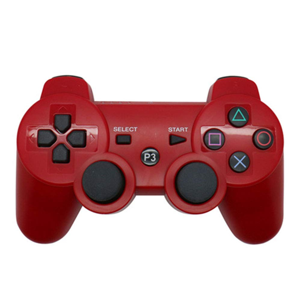 RONSHIN Wireless Controller,for Sony Playstation3 for PS3 Controller Wireless Bluetooth Gamepad Joystick red Gifts for Boys by RONSHIN