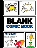 Blank Comic Book: Create Your Own Comic Strip, Blank Comic Panels, 135 Pages, Blue (Large, 8.5 x 11 in.) (Action Comics) (...