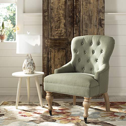 Safavieh Mercer Collection Falcon Arm Chair, Granite