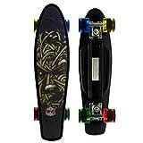 Merkapa Complete 22 inch Skull Style Skateboard for Kids, Beginners