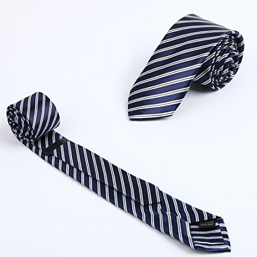 KT3066 Love Shopstyle Slim Ties Polyester Fantastic World 3 Pack Skinny Ties Set by Dan Smith by Dan Smith (Image #4)