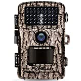 "Foxelli Trail Camera - 14MP 1080P Full HD Wildlife Scouting Hunting Camera with Motion Activated Night Vision, 120° Wide Angle Lens, 42 IR LEDs and 2.4"" LCD Screen, IP66 Waterproof Game Camera"