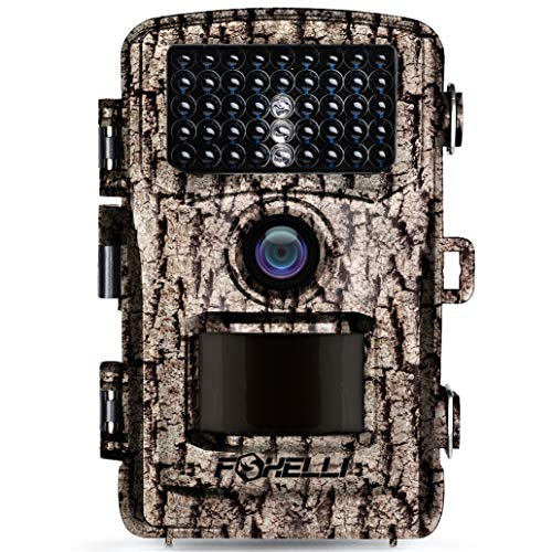 Foxelli Trail Camera - 14MP 1080P Full HD Wildlife Scouting Hunting Camera with Motion Activated Night Vision, 120° Wide Angle Lens, 42 IR LEDs and 2.4