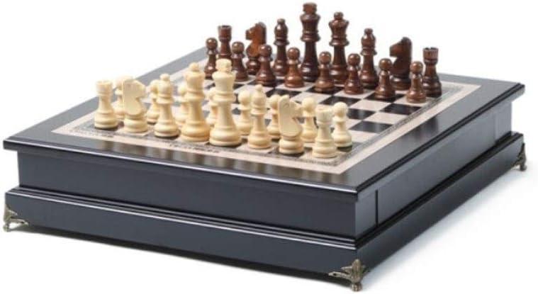 SMXGF Internacional de Ajedrez, un Juego de ajedrez Especiales for Juegos de Adultos, se Puede Utilizar como decoración en Ajedrez Cubierta (marrón Amarillento +, 38 * 39 * 10 cm): Amazon.es: Hogar