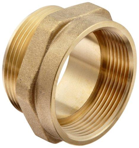 1 Fire Hose (Moon 357-1561511 Brass Fire Hose Adapter, Nipple, 1-1/2