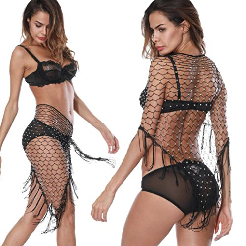 Compia Best Fun Unique Super Comfortable Female Bathing Beach Towel Cover Up Crochet Lace Bikini Swimsuit Beach Cover Up Sexy Gifts