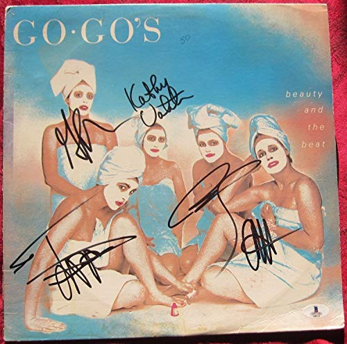 The Go-Gos 5X Autographed Signed Lp Album Cover Beauty And The Beat Beckett Authentic