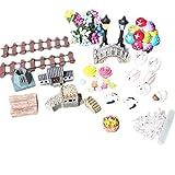 Doitsa 49 Pieces Miniature Ornaments Kit Set for DIY Fairy Garden Dollhouse Decoration Review