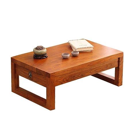Amazon.com: Mesas de café café de madera de haya ventana ...