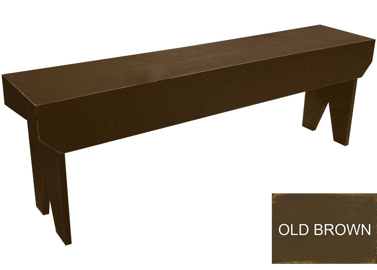 Sawdust City 4 Foot Wood Bench (Old Brown) by Sawdust City