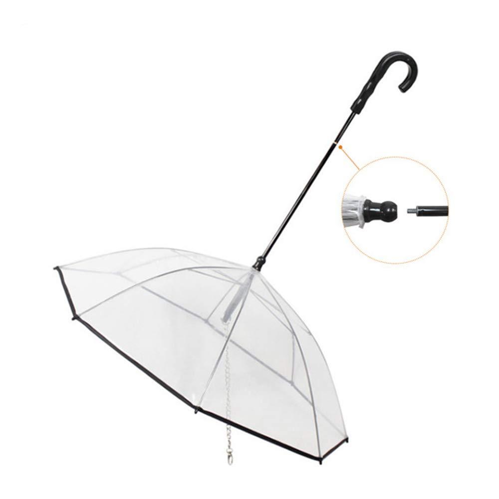 1pcs Pet Umbrella Leash, Adjustable Pet Dog Umbrella with Leash, Pet Outdoor Rainproof Supplies, Upgraded Flexible Handle, Fits 20  Back Length Pets,1pcs