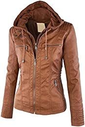 Amazon.com: Brown - Leather &amp Faux Leather / Coats Jackets