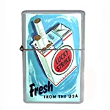 Wind Proof Dual Torch Refillable Lighter Lucky Strike Design-027