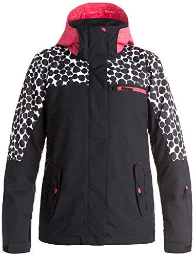 Roxy Womens Jetty Block Jacket, Irregular Dots, Medium