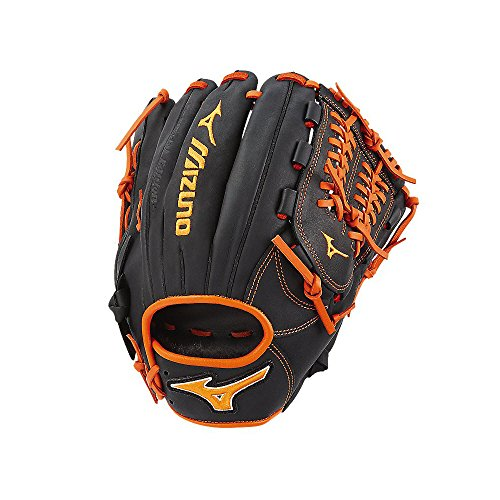 Mizuno MVP Prime SE GMVP1175PSE6 Infield Model Gloves, Black/Orange (Orange And Black Baseball Gloves)