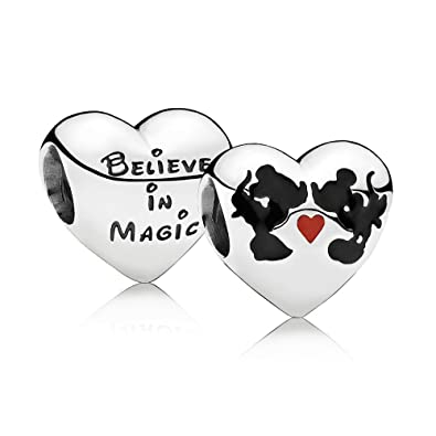cceaabdc8 Disney, Minnie & Mickey Kiss Charm, Mixed Enamel: Amazon.co.uk: Jewellery