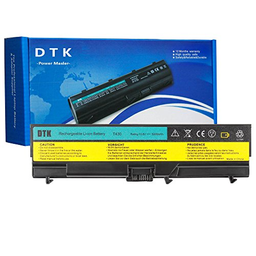 Dtk New Laptop Battery Replacement for Lenovo IBM Thinkpad W530 / W530i /  L430 / L530 / T430 / T430i T530 / T530i Serieslaptop Battery 4400mah