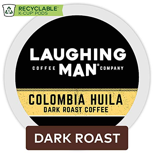 Laughing Man Colombia Huila, Single Serve Coffee K-Cup Pod, Dark Roast, 60