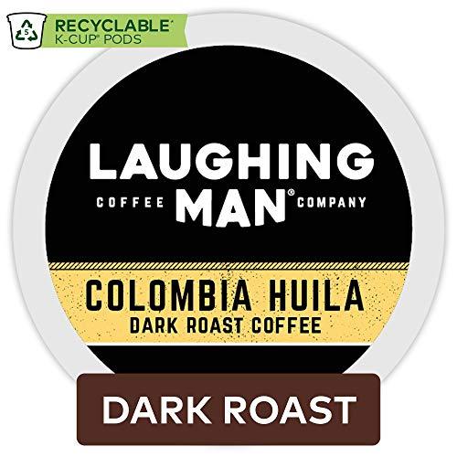 Laughing Man Colombia Huila, Single Serve Coffee K-Cup Pod, Dark Roast, 16