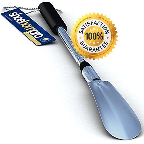 Calzador de Zapatos con Mango Extralargo Ajustable Desde 16 a 31 pulgadas (40 - 78 cm) | Extensible y Plegable | De Acero...