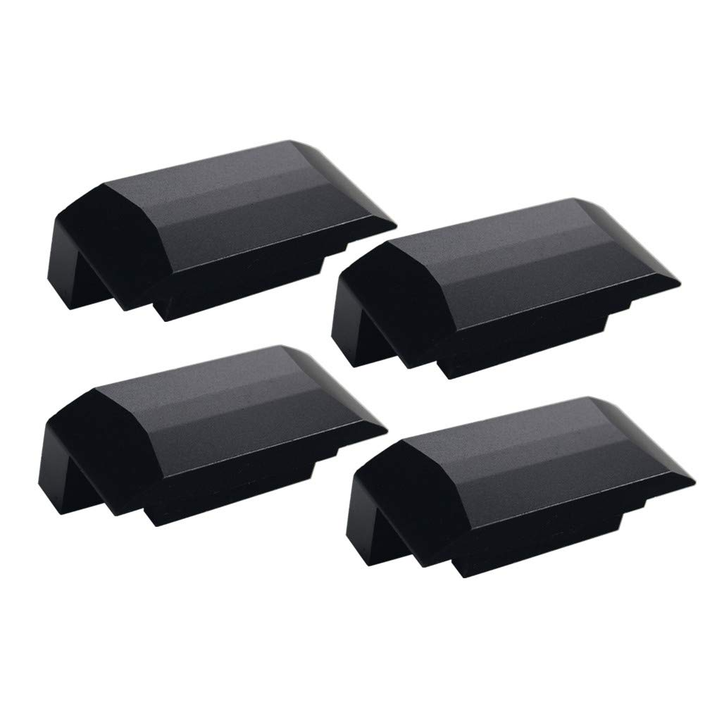 DEWHEL Premium Bolt On Lift Pad Aluminum Floor Jack Points Jack Pad Adapter For Chevy SS 2013 2014 2015 2016 2017 Black 5559006757