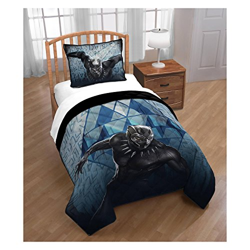 Marvel Black Panther Quilt Set (Twin/Full) - 2pc (Zoey Quilt Set)