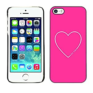X-ray Impreso colorido protector duro espalda Funda piel de Shell para Apple iPhone 5 / iPhone 5S - Heart Quote Love Text Minimalist