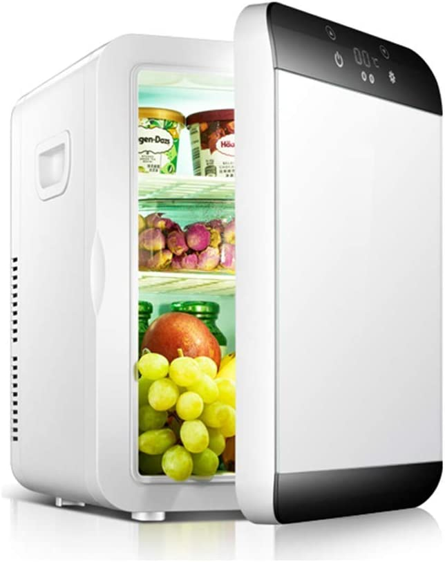 LQUIDE Portable Mini Refrigerator,Electric Cooler&Warmer,Compact Car Fridge Cooler with Digital Thermostat,Wine Cooler for Camping Outdoor-Golden 30x24x35cm(12x9x14inch)