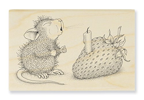 Stampendous HMM18 House Mouse Wood Stamp, Strawberry