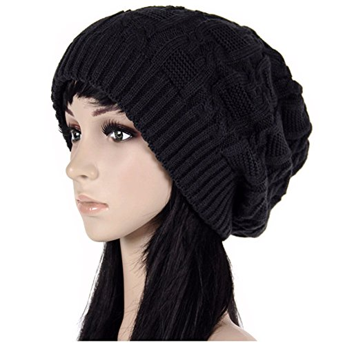 Women Oversize Knit Hat Winter Warm Long Beanie Hat