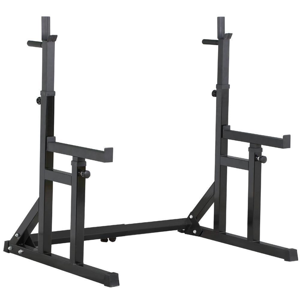 Monumart Adjustable Squat Rack with Dip Bars & Multi Position Spotter 250kg Max Load