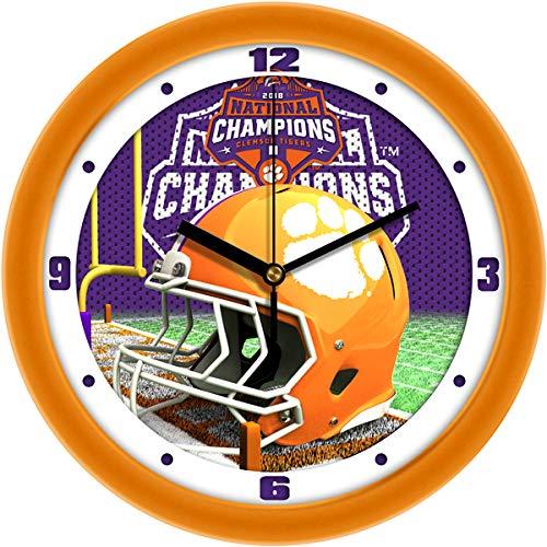 SunTime Clemson Tigers National Championship - Football Helmet Wall Clock ()
