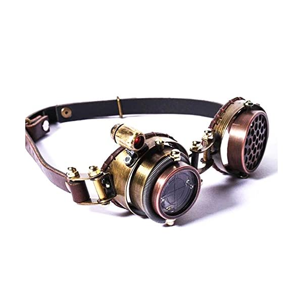 Kehuashina New Steampunk Goggle for Men Women Brand Design Retro High Grade Gothic Sunglasses Multilayer Lens 2018 Hot Punk Sun Glasses 4