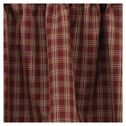 Sturbridge Country Wine Panel Curtains 72x63 (Plaid Curtains)