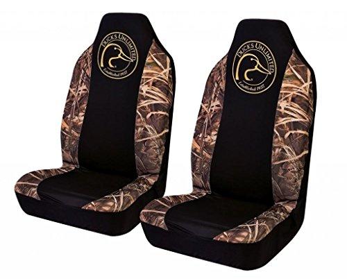 Ducks Unlimited Camo Spandex Seat Cover ( Realtree Max-4 Camo, Set of 2) (Ducks Unlimited Camouflage Camo)