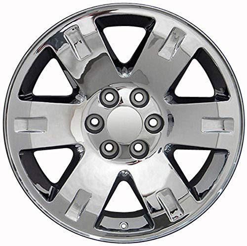 Partsynergy Replacement For Chrome Wheel Rim 20 Inch Fits 1992-2018 GMC Yukon 6-139.7mm 6 Spokes Chrome 20x8.5