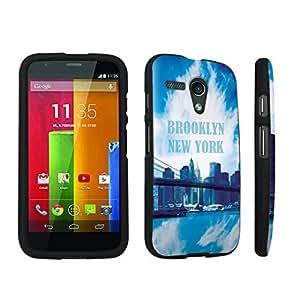 DuroCase ? Motorola Moto G 2013 1st Gen. Hard Case Black - (Brooklyn New York)