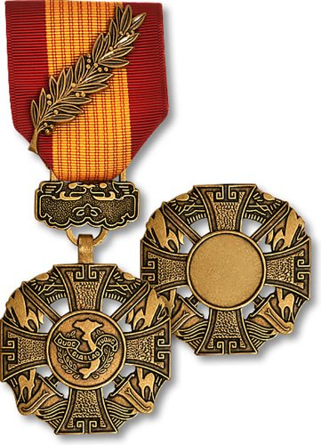 Vanguard FULL SIZE MEDAL: GALLANTRY CROSS ARMED FORCES PALM ATTACHMENT