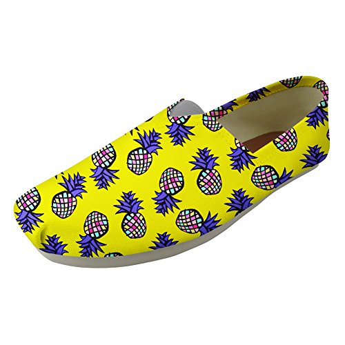 Canvas Women Slip Print Classic Shoes Fashion On Yellow Casual Sneaker Pineapple Youngerbaby for Y1xwgg