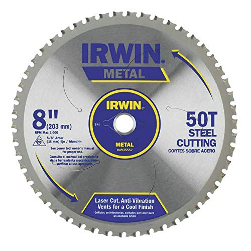 IRWIN Tools Metal-Cutting Circular Saw Blade, 8-inch, 50T (4935557)