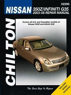 nissan 350z infiniti g35 2003 2008 haynes repair manual rh amazon com 2004 g35 owners manual 2003 g35 service manual