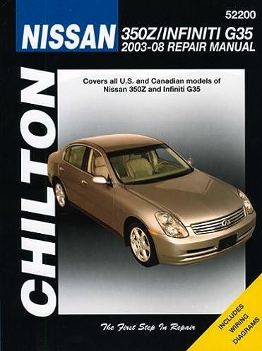 nissan 350 z chilton s repair manual chilton 9781563927317 rh amazon com 2017 Nissan 350Z 2004 nissan 350z factory service manual