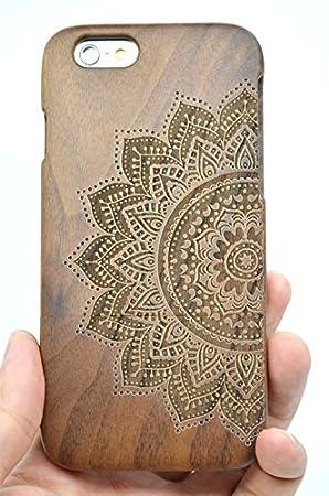 RoseFlower® iPhone 6 Plus 5.5 Funda de Madera: Amazon.es ...