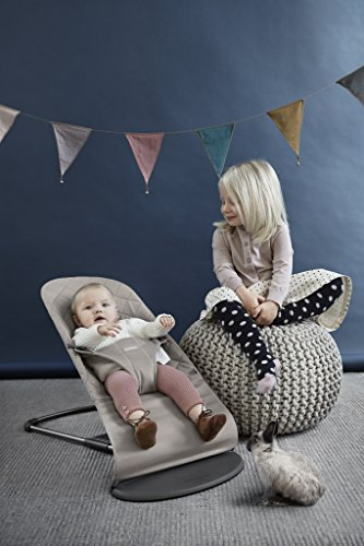 BABYBJORN Cotton Bouncer Bliss, Sand Grey by BabyBjörn (Image #2)