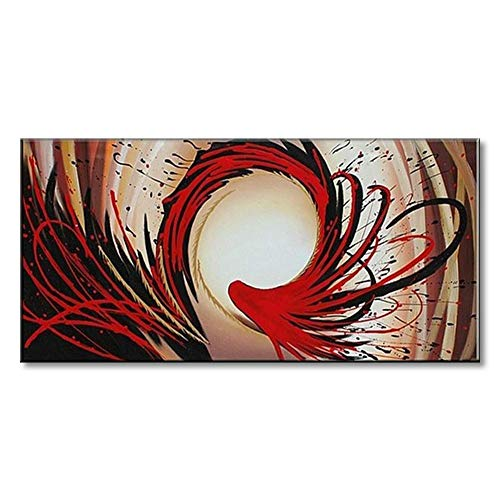 Handmade Abstract Oil Painting Canvas - Seekland Art Handmade Abstract Oil Painting on Canvas Modern Wall Deco Artwork Framed Ready to Hang Contemporary Picture (Framed 4020 inch)