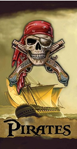 Pirate Ship Skull Beach Towel