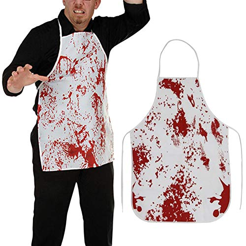 IronBuddy Horror Blood Apron Scray Prank Prop Costumes Apron for Horror Cosplay Halloween (28.3x20.1 Inch, Pack of 2) ()