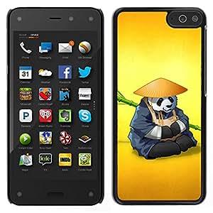 EJOY---Cubierta de la caja de protección para la piel dura ** Amazon Fire Phone ** --El Panda Warrior Meditar